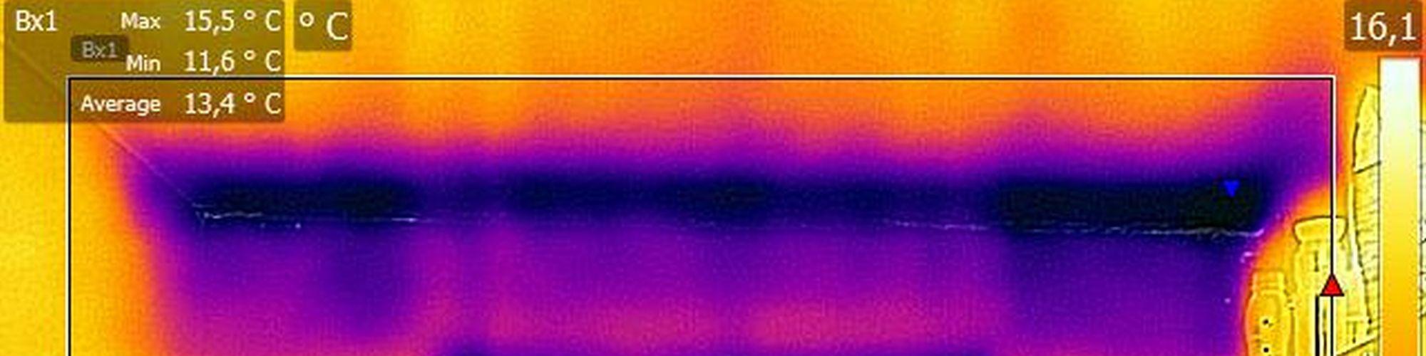Wärmebildaufnahme Wärmebrücke Zimmerdecke